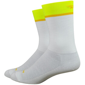 "DeFeet Aireator 6"" Calze, team defeet/white/hi-vis yellow"